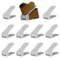10 Stück Schuh Slots Schuhregale Schuhstapler Schuhhalter Set