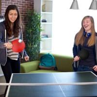 Tischtennisschläger Tischtennis Schläger Ping-Pong Set mit Bälle