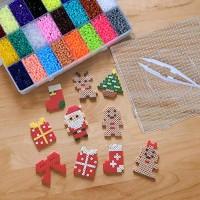 Bügelperlen Set Kinder Spielzeug Basteln für Mädchen Jungen