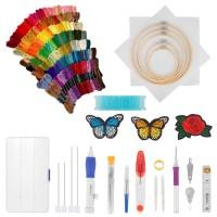 Embroidery Starter Kit Stickpackung mit Kreuzstichwerkzeug 143pcs