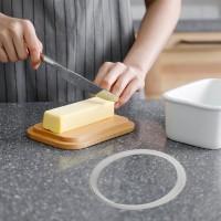 Butterdose Multi Funktion Emaille Butter Boot mit Decke für Butter