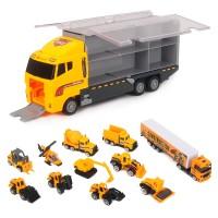 11 in 1 Druckguss Baustellen LKW Fahrzeug Auto Spielzeug Set