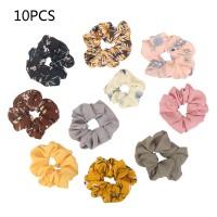 10 Stück Scrunchies Chiffon Set Haarschmuck für Frauen Mädchen