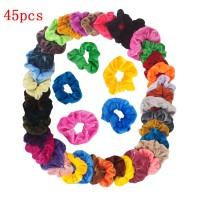 45er Haarbänder Pferdeschwanz Scrunchie Einfarbig Traceless Haarseil