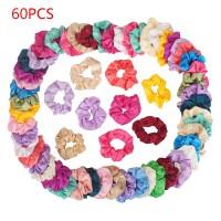 60er Haarbänder Pferdeschwanz Scrunchie Einfarbig Traceless Haarseil
