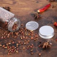 12 Stück Gewürzgläser Glas Gewürzstreuer Leer für Gewürz Aufbewahrung