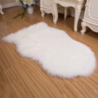 Lammfellimitat Teppich Fell Nachahmung Wolle Bettvorleger Sofa Matte