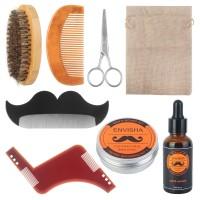 8tlg Bartpflegeset Bartbürste Bartkamm Geschenke Bartpflege für Männer