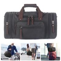 Herren Weekender Sporttasche Damen Reisetasche mit 2 Seiten Taschen