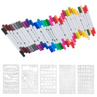 Watercolor Pinselstifte mit Fineliner und Pinsel Spitze Pen 36pcs Set