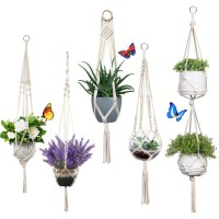 Hängeampel Blumentopf Hängend Pflanzen Halter Aufhänger 5pcs