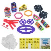 Magnetisch Bauklötze Konstruktion DIY 3D Pädagogisch Spielzeug 108er