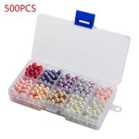 500 Stück Runde Perlen Kuppel Glas Cabochons für DIY Schmuck 10 Farbe
