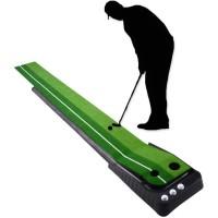 Golf Putting Matte Putting Trainer mit Automatischer Ball Rücklauf