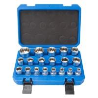 19 tlg Gear Lock Steckschlüssel Vielzahn Torx Zoll Werkzeug Nüsse