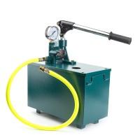 Befüllpumpe Handpumpe Testpumpe mit 10L Behälter Testing pump blau