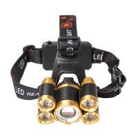 LED Stirnlampe, 5 LED Superheller Kopflampe 1000LM, USB Kopfleuchte