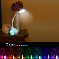 LED Schreibtischlampe Tageslichtlampe Atmosphärenlampe RGB Farblicht