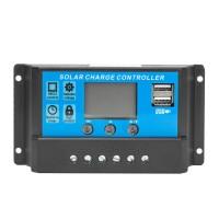 Solarladeregler Solarregler USB Controller mit LCD Display 12V/24V
