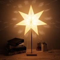 Stern Stehleuchte Stehlampe Papierstern Lampe Leuchtstern 7 Zacken 25W