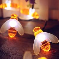 Lichterkette Solar LED Bienen Dekorative für Garten Party Hochzeit