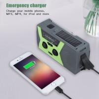 Notfallradio Solarradio mit Taschenlampe Powerbank USB Handy Ladegerät
