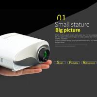 Heimkino Projektor Mini LED Beamer Videobeamer für Multimedia