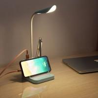 LED Schreibtischlampe Leselampe mit Handyladestation und Stifthalter