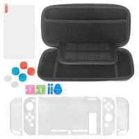 Tragetasche Schutzhülle Griff Kappen Stand Zubehör für Nintendo Switch