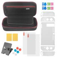 Nintendo Switch Zubehör 13in1 Set in Tasche für Joy-Con Controller