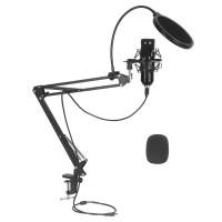 Professioneller USB Kondensator Mikrofon PC Laptop Mikrofon Podcast