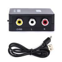 Video Audio Konverter Adapter, HDMI zu AV, für DVD-Player, Schwarz
