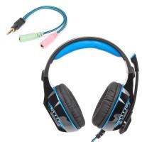 Gaming Headset für PS4 PC Xbox One LED Licht Kopfhörer mit Mikrofon