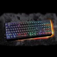 Keyboard RGB Beleuchtete Gaming Tastatur schwarz f. PC Laptop Desktop