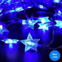 Lichterkette LED Sternform Beleuchtung f. Party Weihnachten 10m 80LED