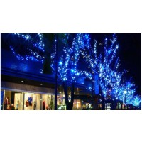 Lichterkette Kupferdraht Leiste Lichter 20M für Weihnachten Blau