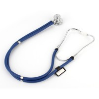 Stethoskop Doppelschlauch Medizin Rettungsdienst Blau