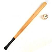 Baseballschläger mit Ball aus Holz 84cm