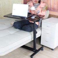 Computertisch Schreibtisch Laptoptisch Notebooktisch Tisch mit Rollen