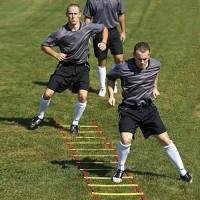 Trainingshilfer Koordinationsleiter Fußball Leiter 6x0.5m Rot/Gelb