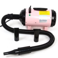 Trockner für Haustier Hundehaare Hundefön rosa 2400W mit Heizung
