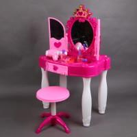 Kinder Schminktisch mit Fernbedienung Kunststoff rosa