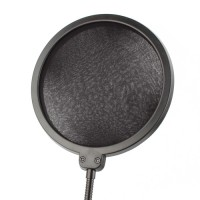 Microphone POP Filter Popschutze Windschutz schwarz