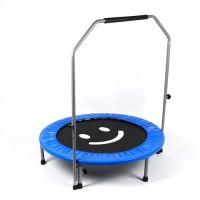 Ø100cm Trampolin mit lächelndem Gesicht Fitness blau bis 110kg