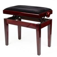 Klavierstuhl Pianobank Klavierbank aus Massivholz schwarz, 45-55 cm