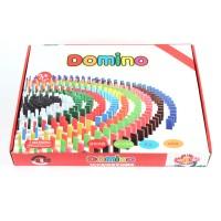 Domino-Spiel 580-tlg. aus Holz , DIY bunte Bausteine Gebäude Blöcke