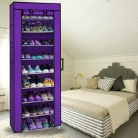 Schuhschrank Regal Schuhständer 10 Ebenen 30x60x160cm lila