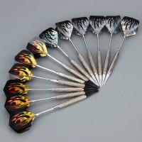Dartpfeile, 12 Stück, mit Kunststoff Dart spitzen, 200 tips