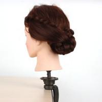Übungskopf friseur 24'' synthetische haar / frisierkopf mit lang haar