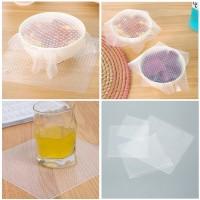 4pcs Silikon-Frischhalte-Deckel, Cling Wrap, dehn- & wiederverwendbar